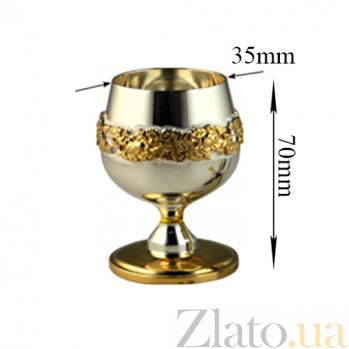 Серебряная рюмка Нектар в позолоте, 50мл 2.4.0051