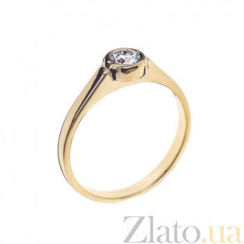 Кольцо в желтом золоте Noor с бриллиантом 000079277