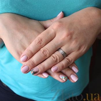 Золотое обручальное кольцо Бренд с цирконием TRF--4221088