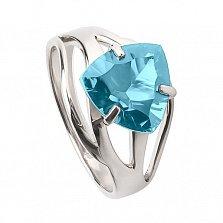 Кольцо из белого золота с голубым топазом Ульрика
