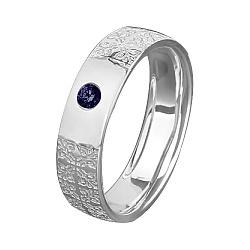 Обручальное кольцо Дивный сон из белого золота с сапфиром 000067925