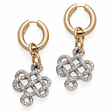 Золотые серьги Node с бриллиантами