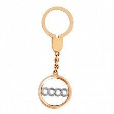 Брелок Audi из красного и белого золота