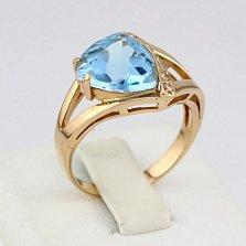 Золотое кольцо Джиованна с топазом и фианитами