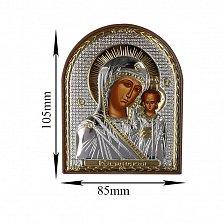 Икона Казанская Божья Матерь, 85х105мм