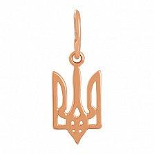 Золотая подвеска Герб Украины