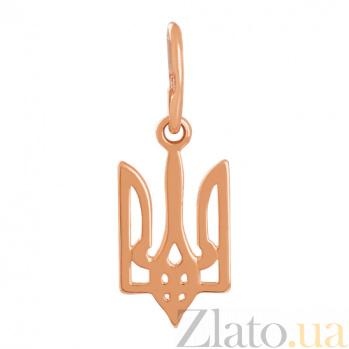 Золотая подвеска Герб Украины VLN--314-1653