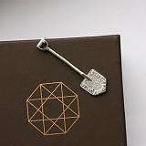 Серебряный сувенир лопата Загребушка