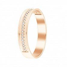 Обручальное кольцо Единственной в красном золоте с бриллиантами