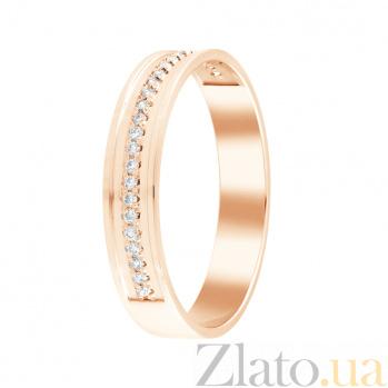 Обручальное кольцо Единственной в красном золоте с бриллиантами 000098486