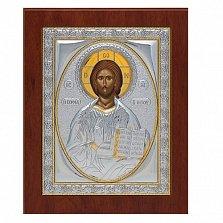 Икона серебряная Спаситель, 14х11см