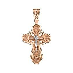 Крестик из золота комбинированного цвета 000141688