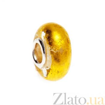 Бусина серебряная с муранским стеклом AQA--002510078