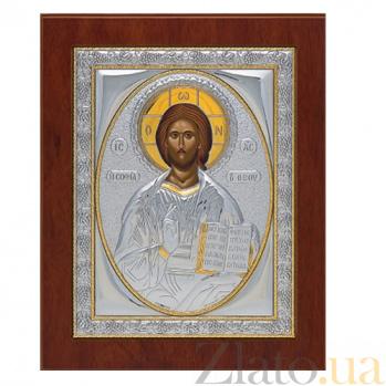Икона серебряная Спаситель, 14х11см SXGП Спас 14х11