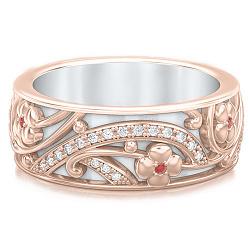 Обручальное кольцо из розового золота Восторг: Ласковый рассвет 000010914