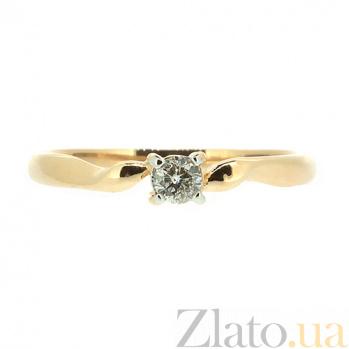 Кольцо из красного золота с бриллиантом Яна 000021475