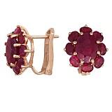 Серьги из красного золота Амели с рубинами