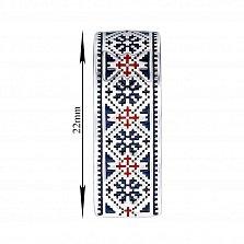 Серебряный кулон с синей и красной эмалью 000133728