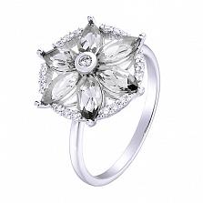 Кольцо в белом золоте Маргарита с фианитами