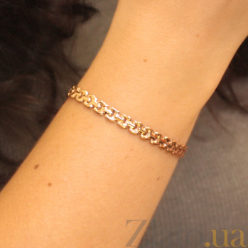 Золотой браслет Ноэль крупного фантазийного плетения, 5,5мм 000080766