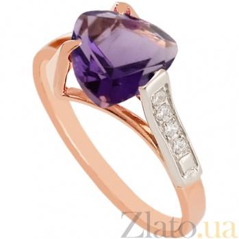 Золотое кольцо с александритом и фианитами Ингеборга 000024441