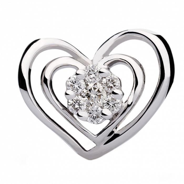 Подвеска из белого золота с бриллиантами Гастерия 000030458