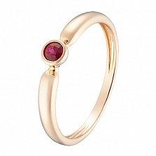 Кольцо в красном золоте Надежда с рубином