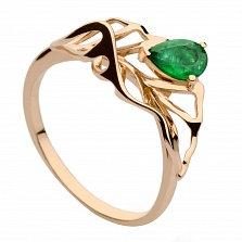 Золотое кольцо с изумрудом Фелисия