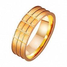 Золотое обручальное кольцо Любовь фараона