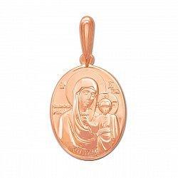 Ладанка Образ Богородицы  из красного золота 000129791