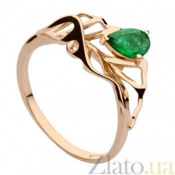 Золотое кольцо с изумрудом Фелисия 000030147