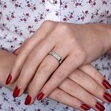 Серебряное кольцо Аддита с цирконием