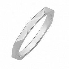 Обручальное кольцо из белого золота Безграничная любовь