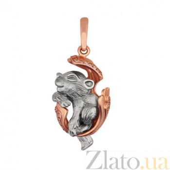 Подвеска Детеныш пантеры из красного золота VLT--Т3488
