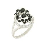 Золотое кольцо с ониксом и бриллиантами Дафна