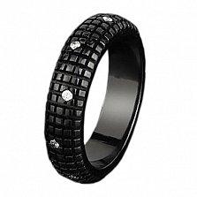 Женское золотое обручальное кольцо Бархат ночи с бриллиантами