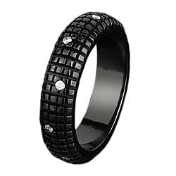 Женское золотое обручальное кольцо Бархат ночи с бриллиантами 000019143