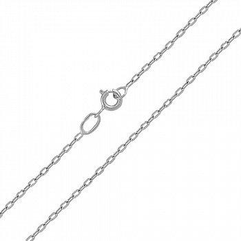 Срібний родований ланцюг, 1 мм 000057216