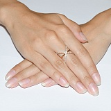 Золотое кольцо с фианитами Гвендолайн