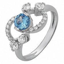 Серебряное кольцо с кварцем London blue Оперетта