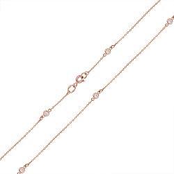 Золотое колье Элизия с завальцованными фианитами 000007987
