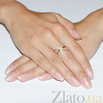 Золотое кольцо с фианитами Гвендолайн TNG--380176