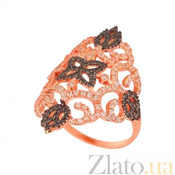 Золотое кольцо Кружево с фианитами VLT--ТТТ1181-2