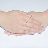 Кольцо из желтого золота с бриллиантом Miriam
