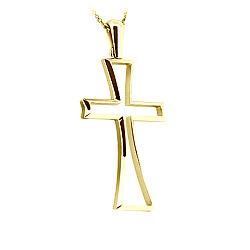 Золотой крест в желтом цвете Прощение на цепочке 000029635