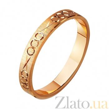 Золотое обручальное кольцо Гера TRF--411098