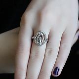 Серебряное кольцо с бриллиантами Enigma