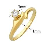 Золотое помолвочное кольцо с бриллиантом Мэринелла