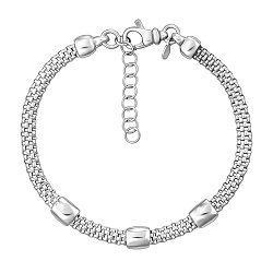 Серебряный браслет в венецианском плетении 000124501