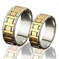 Золотое обручальное кольцо Королевский дуэт RD01